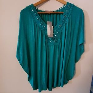 NY Collection NWT Big Open Sleeves Blouse - M